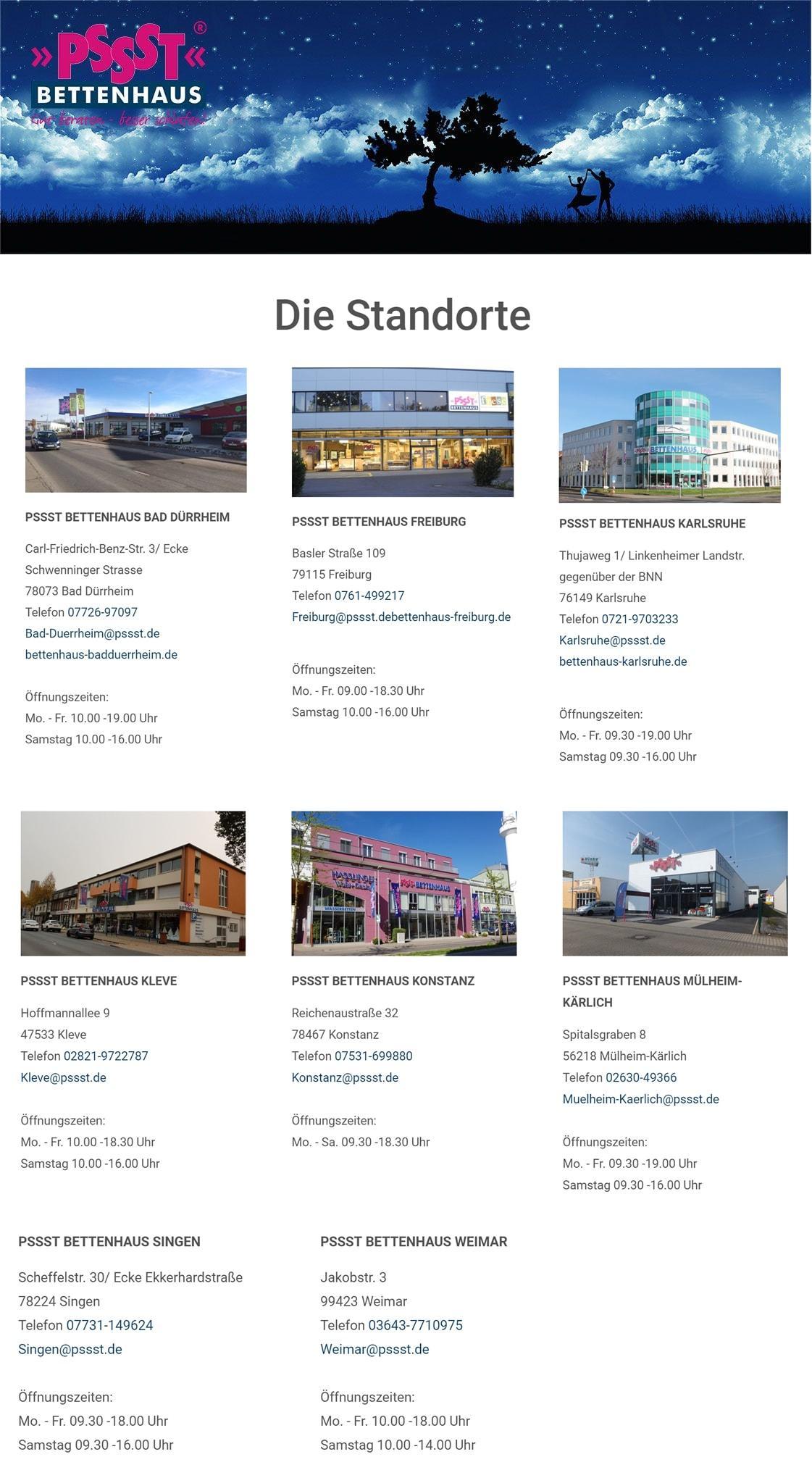 Bettenhaus, Bettenfachgeschäft & Onlineshop
